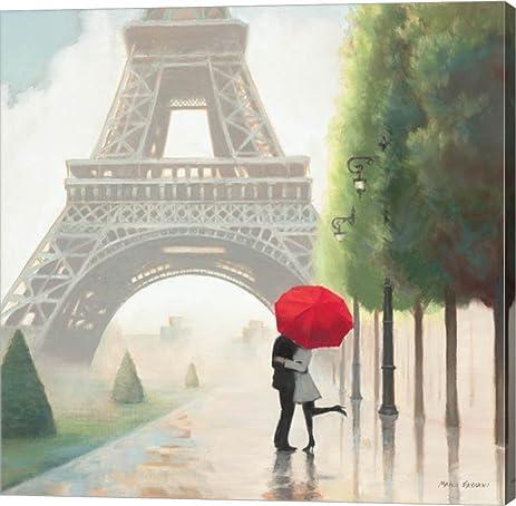Amazon.com: Paris Romance II by Marco Fabiano Canvas Art Wall ...