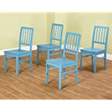 TMS Camden Dining Chair, Blue, Set of 4