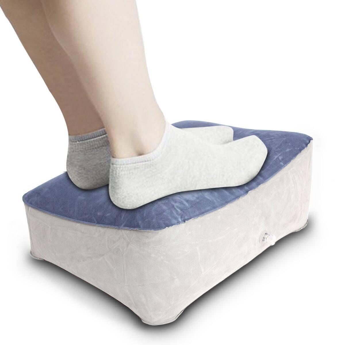 Amazon.com: AUDEW Inflatable Foot Rest Pillow Cushion Travel ...