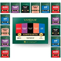 Vahdam, Black Tea Sampler, 5 Teas - Tea Variety Pack | Assorted Black Tea Bags | English Breakfast, Darjeeling, Assam…