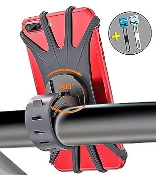 Bothink Soporte Móvil Bicicleta, Soporte Móvil Moto & Bici 360° Rotación Silicona Soporte De