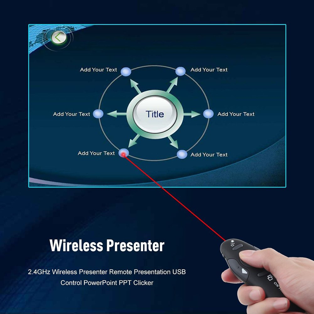 Famtasme Usb Powerpoint Ppt Pointer 24ghz Wireless Presenter Laser Pp1000 Clicker Remote Control Electronics