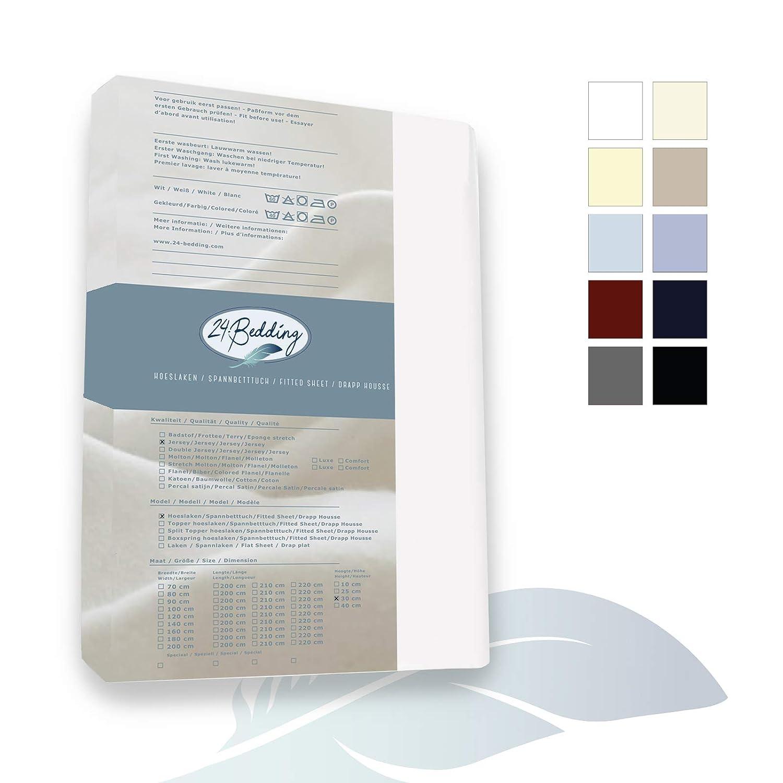 Sábana Bajera Ajustable Extra Larga 90 x 210 cm, Color Blanco, con 24 Camas, 90 x 210 cm: Amazon.es: Hogar