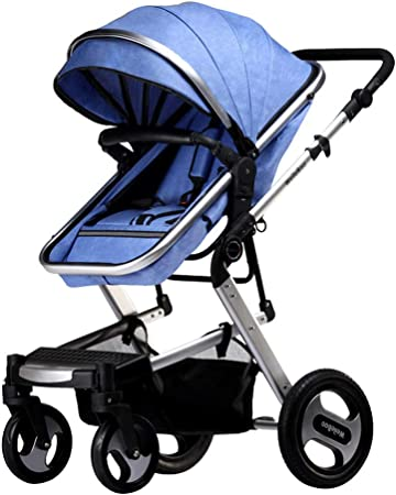 Opinión sobre Cochecito con sistema de viaje, puede sentarse y acostarse cochecito de cuatro ruedas, puede soportar 25 kg, absorción de impactos tridimensional, reducir golpes, agrandar la cesta para dormir