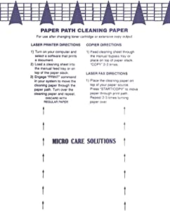 Microcare Laser & Inkjet Printer Cleaning Sheet (8.5 x 11) 20 Sheets…