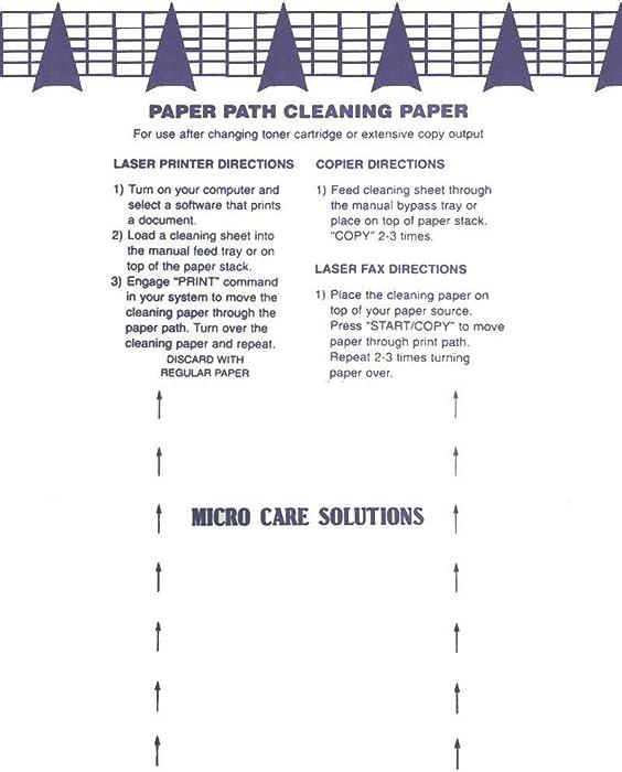 Microcare Laser & Inkjet Printer Cleaning Sheet (8.5 x 11) 20 Sheets…