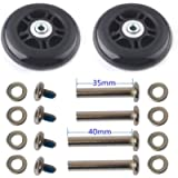 F-ber Luggage Suitcase Wheels Replacement Kit OD 64/68/70/75/78/84/90mm w/ABEC 608zz Skate Inline Outdoor Skate…