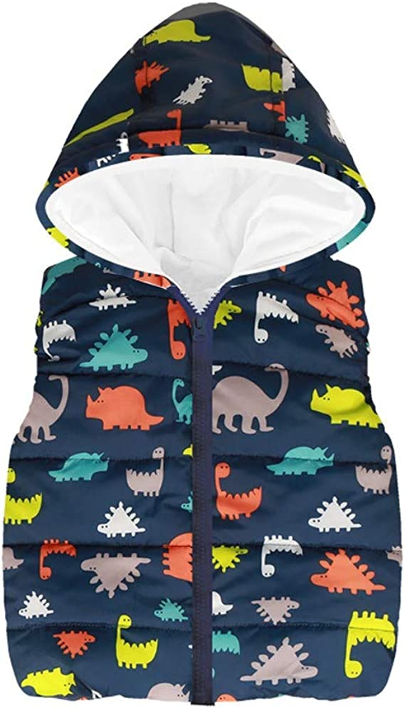 Baby Infant Sleeveless Hooded Rainbow Strip Jackets Warm Waistcoat Children Vests Toddler Clothes Coat Amaone Kids Girls Boys Gilet for 2-6 Years