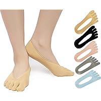 SendYouShine Mujer Respirable Calcetines del dedo del pie Compresión Calcetines Forro de Corte Ultra Bajo Antideslizante…