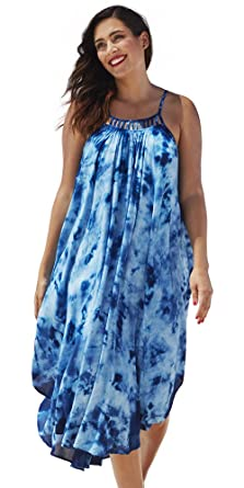94c3123da8 Swimsuits For All Women's Plus Size Maxi Dress Swimsuit Cover Up 10 Multi