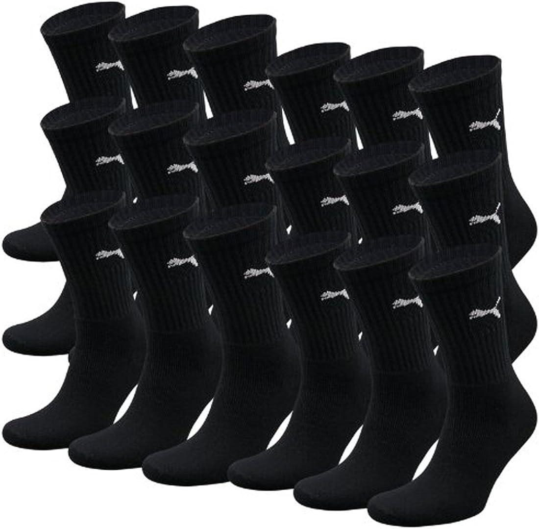 Puma Basic - Calcetines deportivos unisex (9 pares, 39/42 - 9 pares, mezcla de colores 1