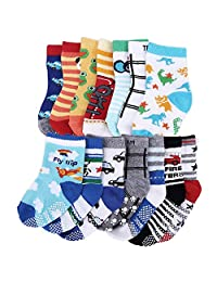 14Pairs Anti Skid Socks Toddler Girl Boy Non Slip Socks for Kids