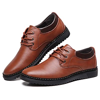 Men's Wedding Oxford Shoes British Business Formal Derby Boots Wingtip Dress Shoes Leather Brogue Flats   Oxfords