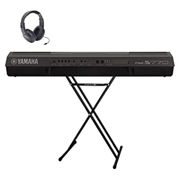 Attractive Yamaha PSRS770 61 Keys Powerful Performance Touch Sensitive Widescreen  Color Display Keyboard With Real Distortion