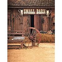5x7ft Vinyl Digital Western Barn Cowboys Photography Studio Backdrop Background