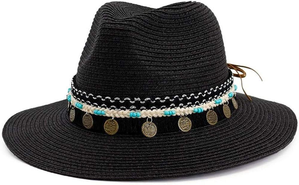 Straw Western Cowboy Hat Roll Up Brim Sun Hats Summer Beach Sombrero Hombre Lifeguard Jazz Hats