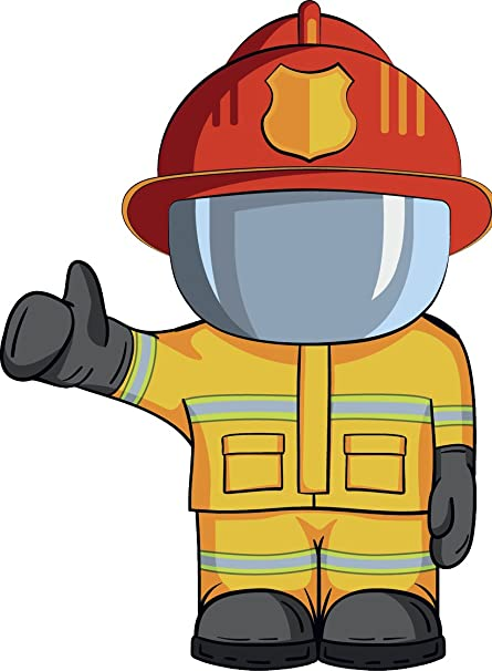 Amazon.com: Fire Emergency Department Tools Cartoon Vinyl Sticker ...
