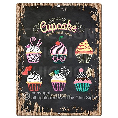 Dessert Cup Cake Chic Sign Home Kitchen Wall Decor 9