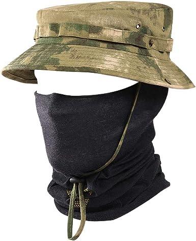 Mens Tactical Sniper Hats Sun Boonie UV-Protection Cap Military Wide Brim Bucket