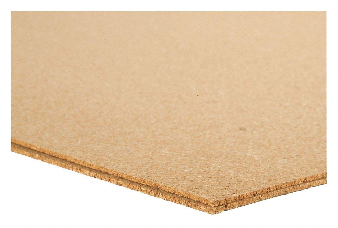 Cork Sheet, Underlayment, 12mm Th, 24x36 in - Pack of 5