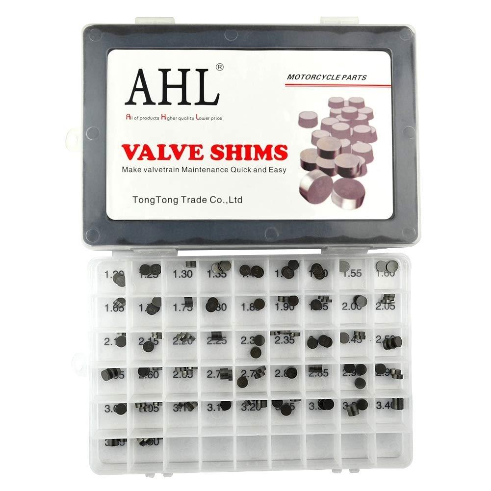 AHL 7.48mm Motorcycle 3X47PCS Valve Shim Adjustment Plate Valve Play Kit for Kawasaki Z100020032008,2010