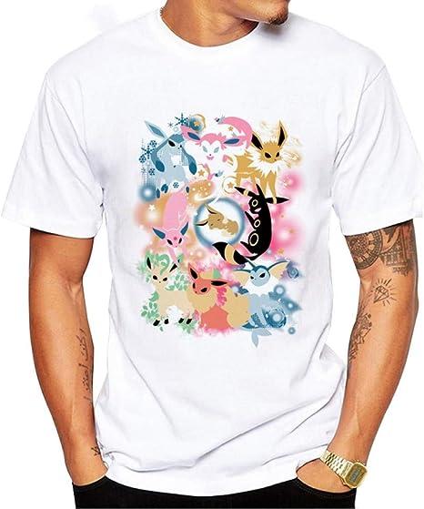 ZCYTIM Camiseta Pokemon Go para Hombre Camiseta de Punto de Moda Camiseta Estampada de Manga Corta con Estampado de Pokémon Camiseta de Manga Corta de Hipster Comics: Amazon.es: Deportes y aire libre
