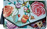 Anuschka Handbags Women's 607 Convertible Envelope Clutch Wristlet Roses D'Amour Handbag