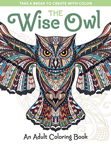 The Wise Owl An Adult Coloring Book