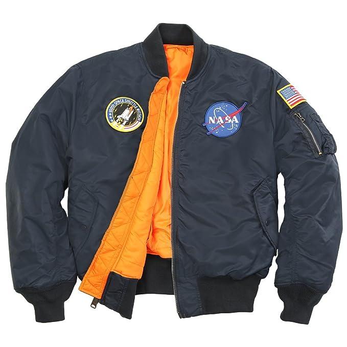 save off 47c23 cb54d Alpha Industries Men's NASA MA-1 Bomber Flight Jacket