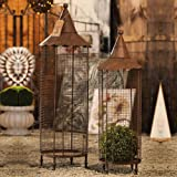 Gifted Living Nested Iron Bird Cage Lantern, Set of 2