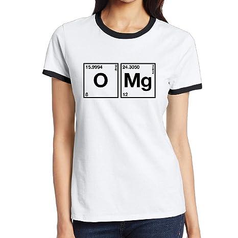 C Diy Womens Two Toned T Shirts Fashion O Mg Chemical Symbol M
