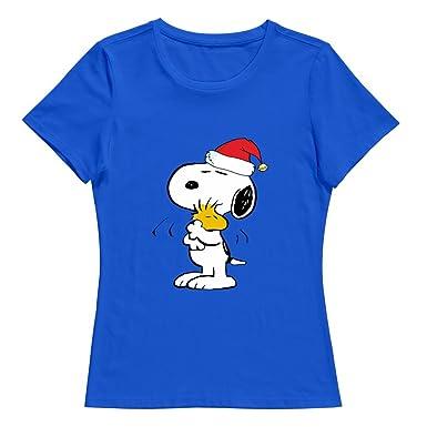 Snoopy Vrolijk O Kst Vintage Hals Xxl Dames shirt Peanuts Kerst T Nwvm8n0