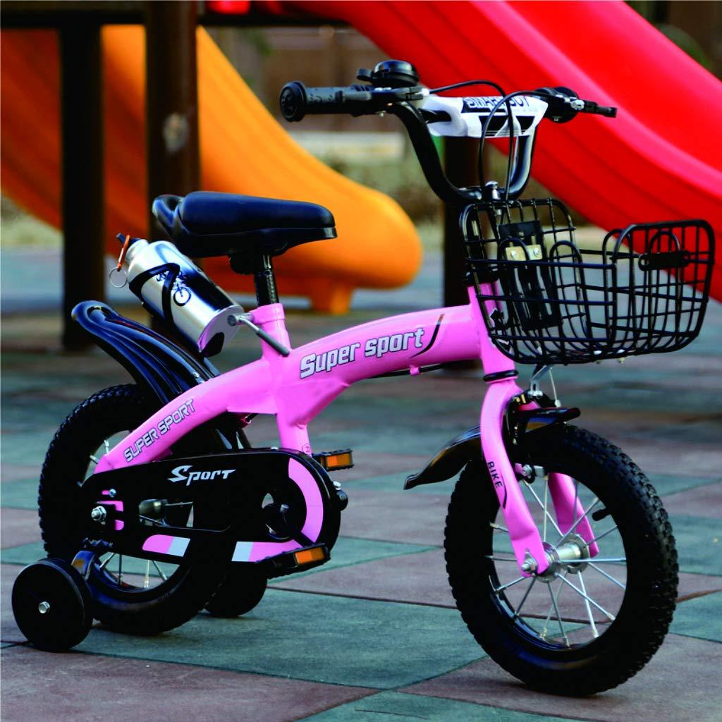 liusa Freestyle Bicicleta Bicicleta para niños 14 Pulgadas/báscula Bicicleta con Rueda de Entrenamiento de Chicos y Chicas (H 50 cm, L 50 cm, ...
