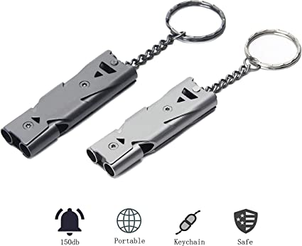 ULTRA LOUD EMERGENCY SURVIVAL EDC Stainless Steel Outdoor Sports Camping Whistle