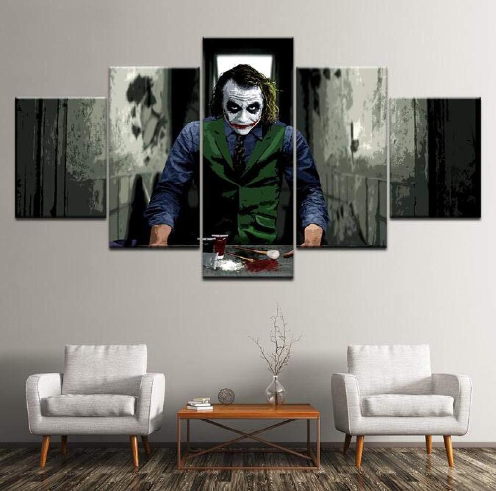 Taglia A GHKNB Stampe e Quadri su Tela Joker della Pittura Film 5 Pezzi Arte della Parete Pittura Stampa Poster da Parete Soggiorno Decorazioni per La Casa Senza Cornice