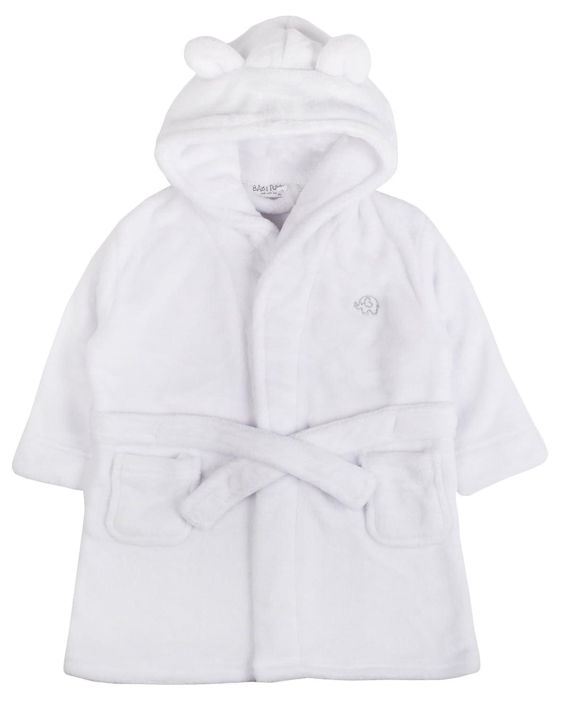 Bata para bebé niña de Lora Dora, con capucha, de polar, talla de 6-24 meses Blanco White - Elephant 18-24 Meses: Amazon.es: Ropa y accesorios