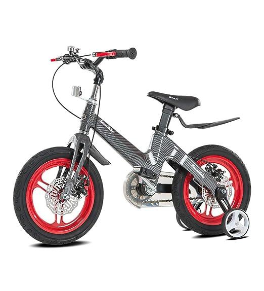 SJSF Y Bicicleta Infantil Niño Y Niña   12 Pulgadas con Ruedines Y ...
