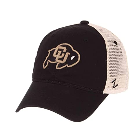 on sale 4bc8a d169c Zephyr Colorado Buffaloes Adult Relaxed Fit University Meshback Hat - Team  Color, Adjustable