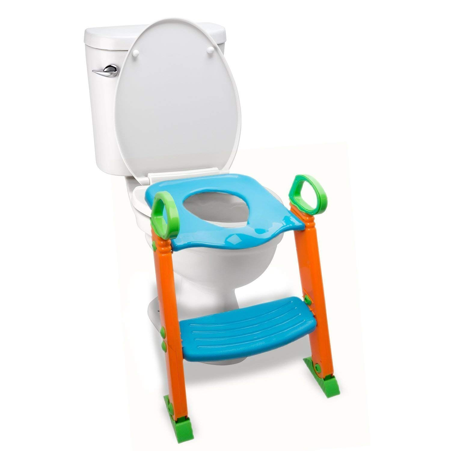 Alayna Potty Seat with Step Stool Ladder, 3 in 1 Trainer for Kids Toddlers W/Handles. Sturdy, Comfortable, Safe, Built in Non-Slip Steps W/Anti-Slip Pads. Excellent Toilet Seat Step Boys Girls Baby by Alayna