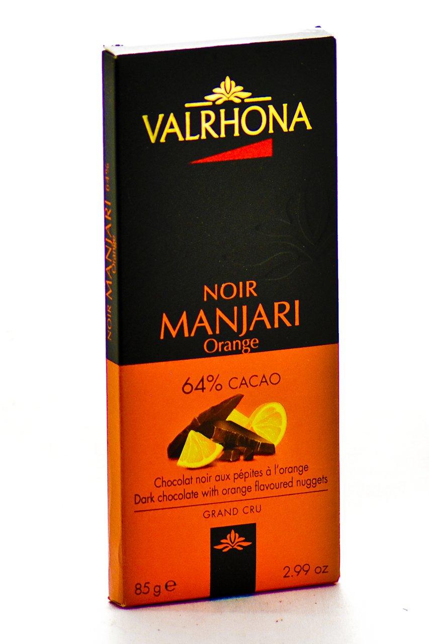 Amazon.com : Valrhona Manjari with Orange Peel Chocolate Bar ...