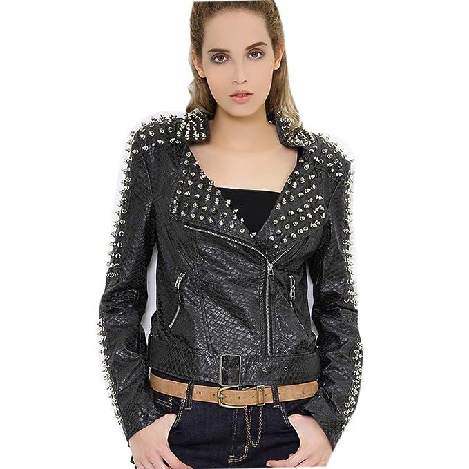 Rock Mujer Pesada Industria Motocicleta Punk Ropa Remache ...
