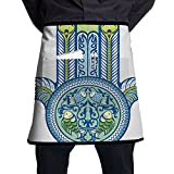 Guiping Asian Mysticism Japanese Culture Inspired Design With Koi Fishes Magic Power Decorative Kitchen Apron With Pockets For Men And Women