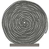 25 Foot Length Ball Chain, Number 6 Size, Nickel Plated Steel, 25 Matching Connectors