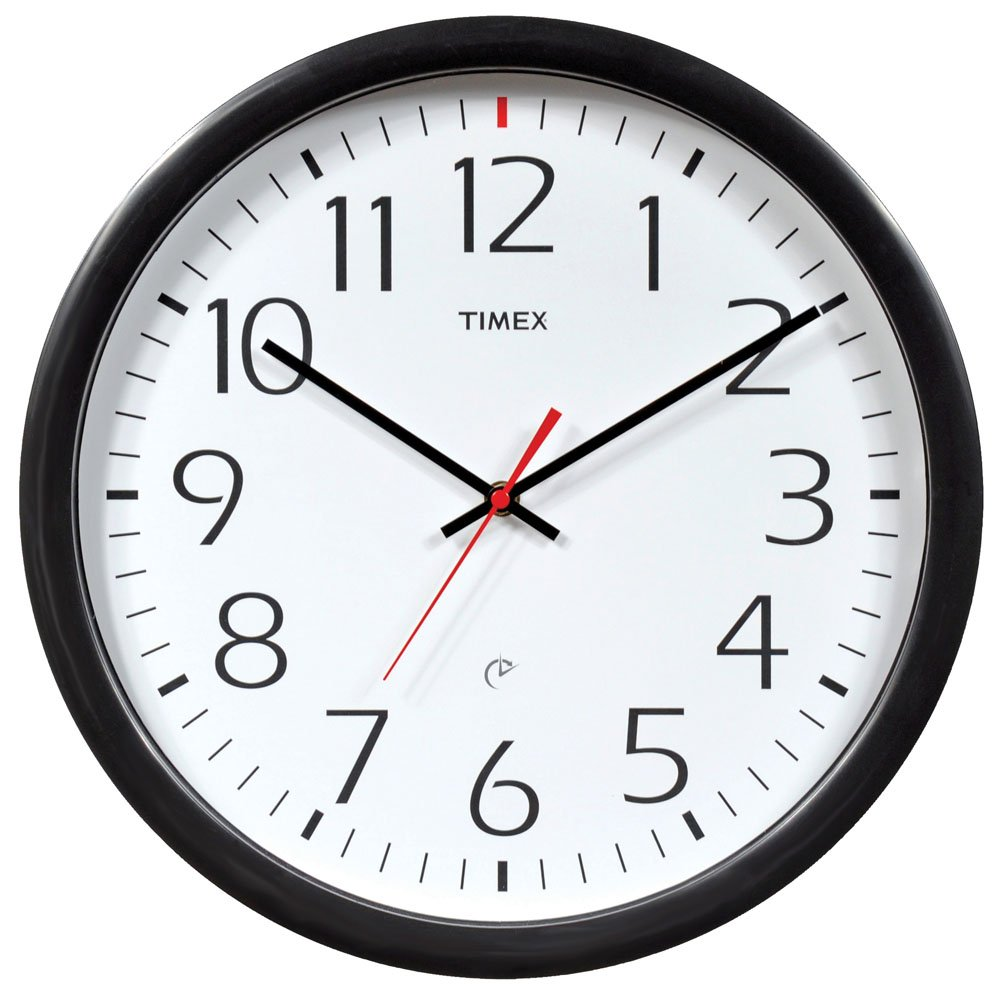 Amazon Timex 46004t Set And Forget Wall Clock 14 Inch Home