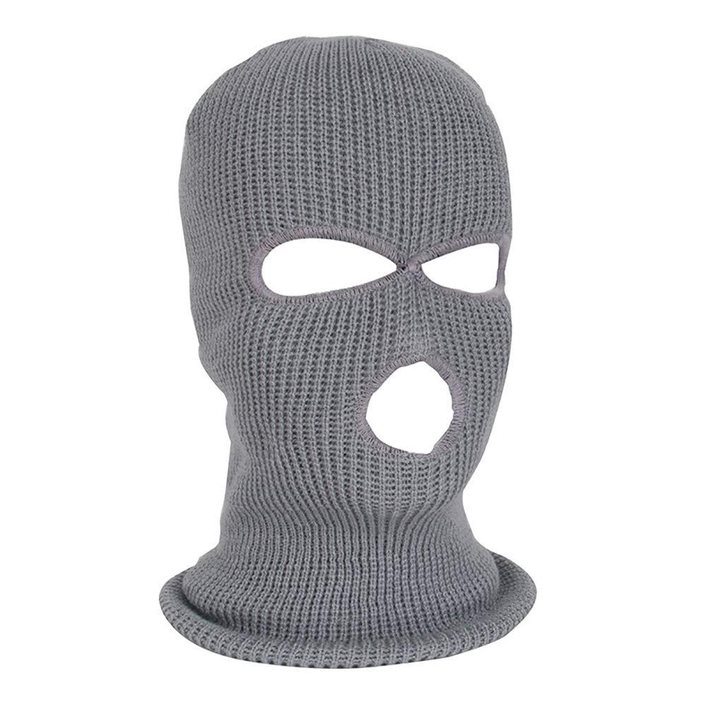 yanbirdfx Army Tactical Winter Warm Ski Cycling 3 Hole Balaclava Hood Cap Full Face Mask - Grey