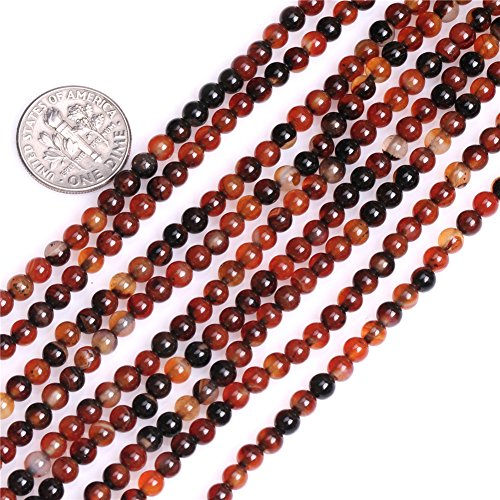 JOE FOREMAN 4mm Dream Lace Agate Semi Precious Stone Round Loose Beads for Jewelry Making DIY Handmade Craft Supplies - Agate Dream Bracelet