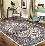 Rugshop Traditional Oriental Medallion Design Indoor Area Rug, 3'3″ x 5′, Blue Review