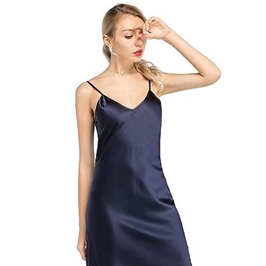Spaghetti Strap Silk Dress