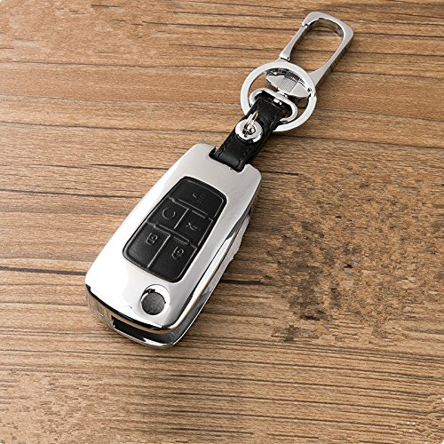 New Black Zinc alloy 5 Buttons Leather Flip Remote Key Cover Holder Fob Jacket for Chevrolet GMC chevy Camaro Cruze Volt Equinox Spark Malibu Sonic Aveo Camaro Caprice Cheyenne Colorado