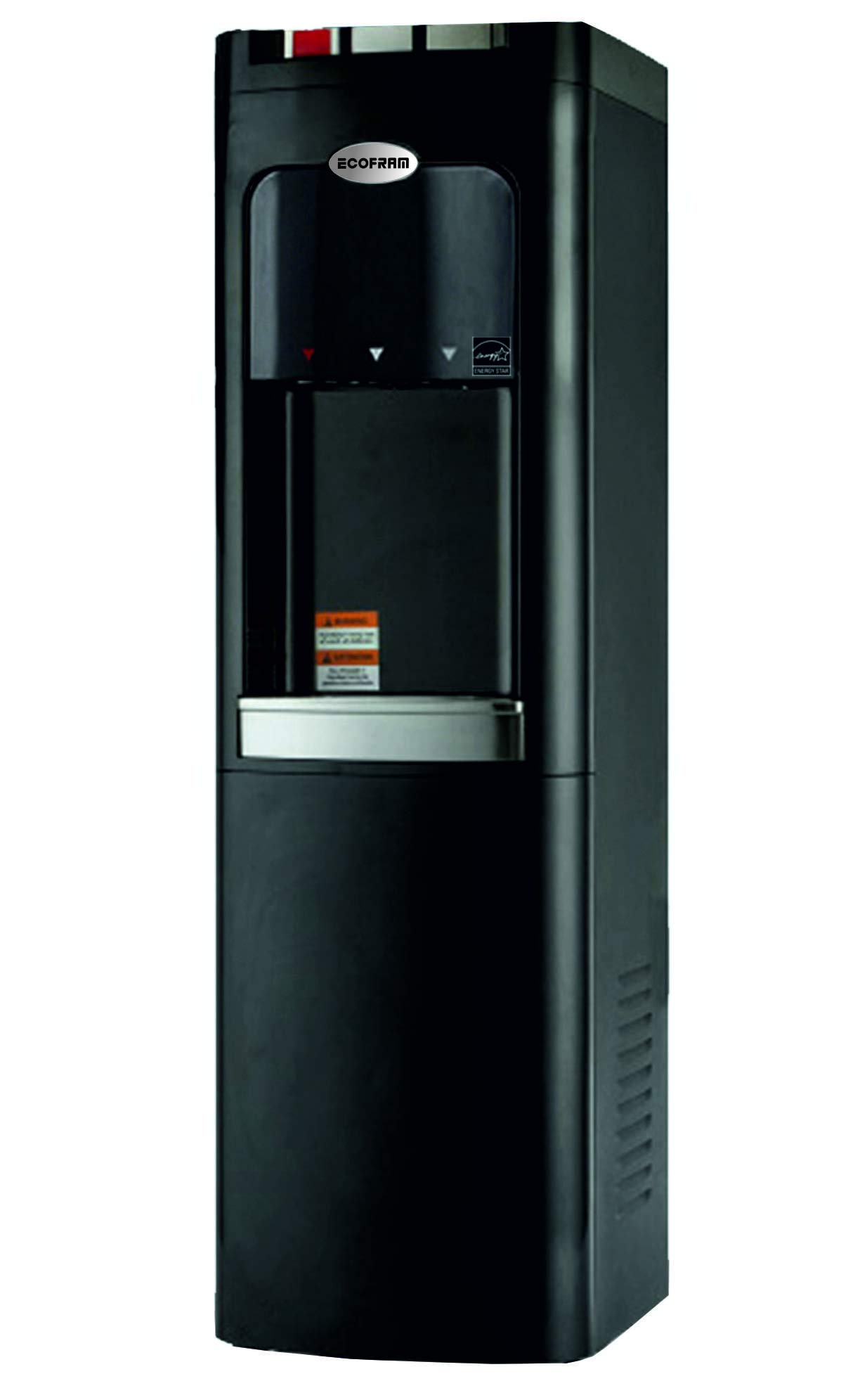 ECOFRAM Water Cooler, Premium Design, Commercial Series, Heavy Duty Built, Tall Top Loading Hot, Cook and Cold Water Dispenser